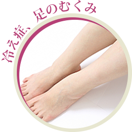 冷え症、足のむくみ